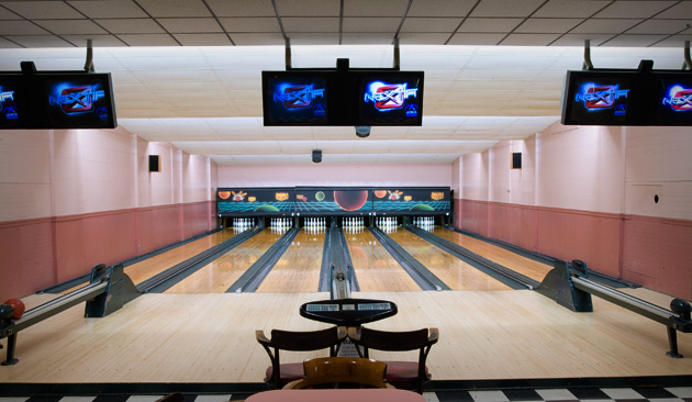 Bowling Alley Interior at L & M Lanes